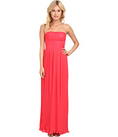 Aidan Mattox - Strapless Pleated Chiffon Gown