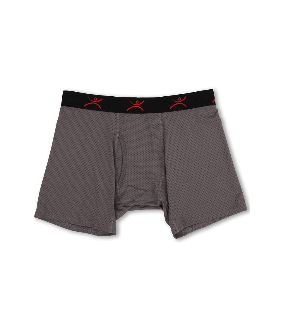 Terramar - Performance Pro Mesh Boxer Brief 6 W8097 1-Pair Pack (Grey) Men's Underwear