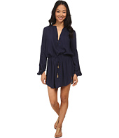 Vix - Solid Indigo Blue Paris Tunic Cover-Up