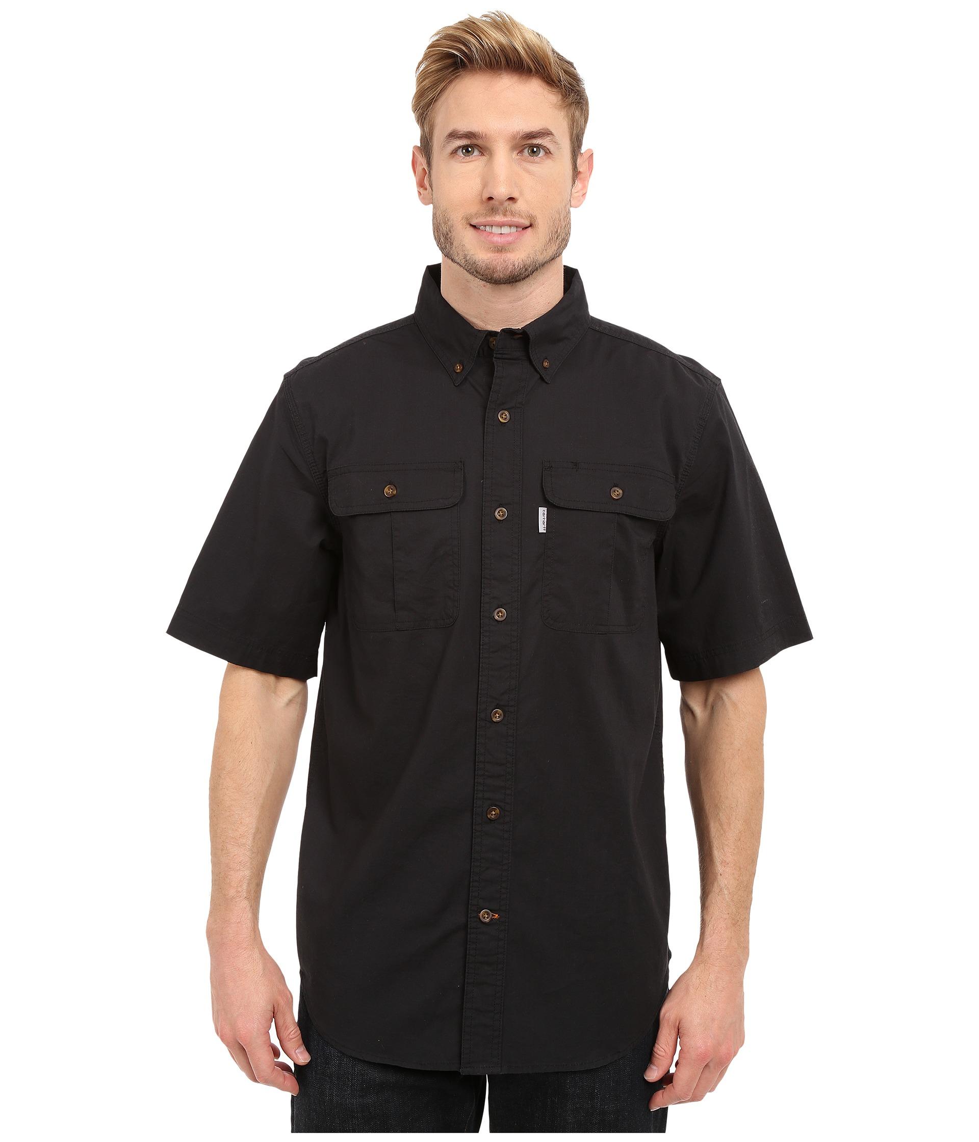 Carhartt Foreman Solid Short Sleeve Work Shirt Black