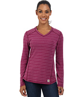 Carhartt - Force Long Sleeve V-Neck/Striped T-Shirt