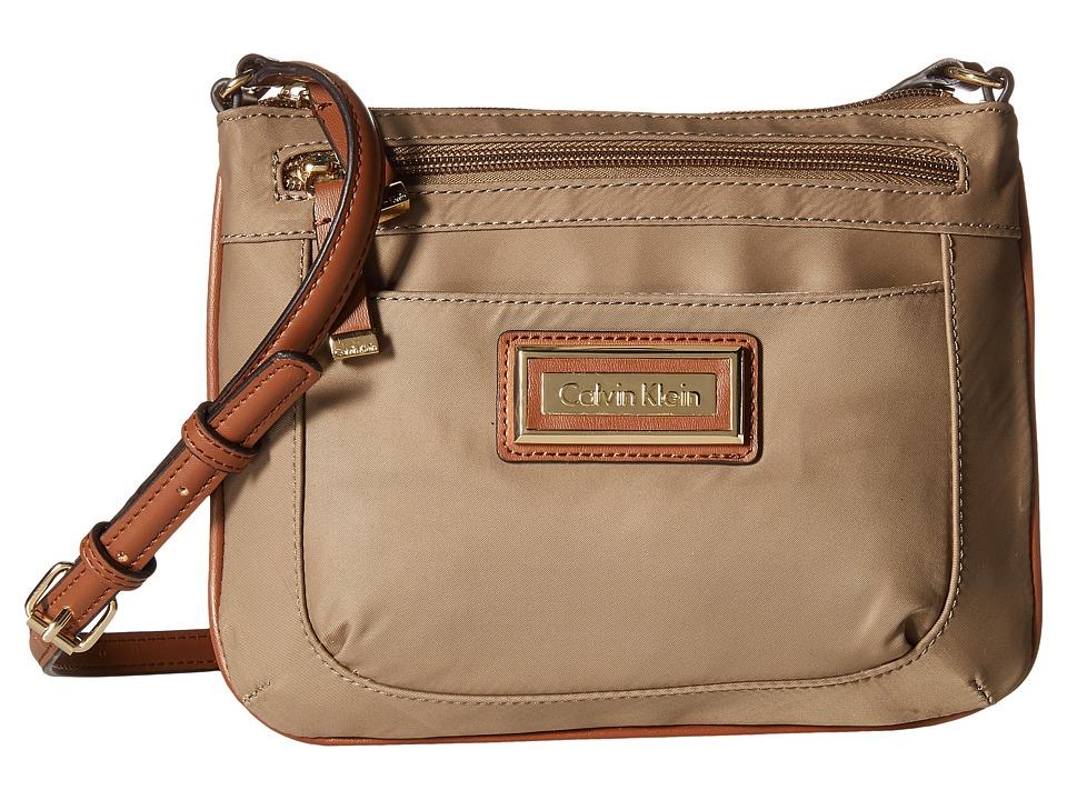 Calvin Klein - Nylon Organization Crossbody (Light Khaki 1) Cross Body Handbags