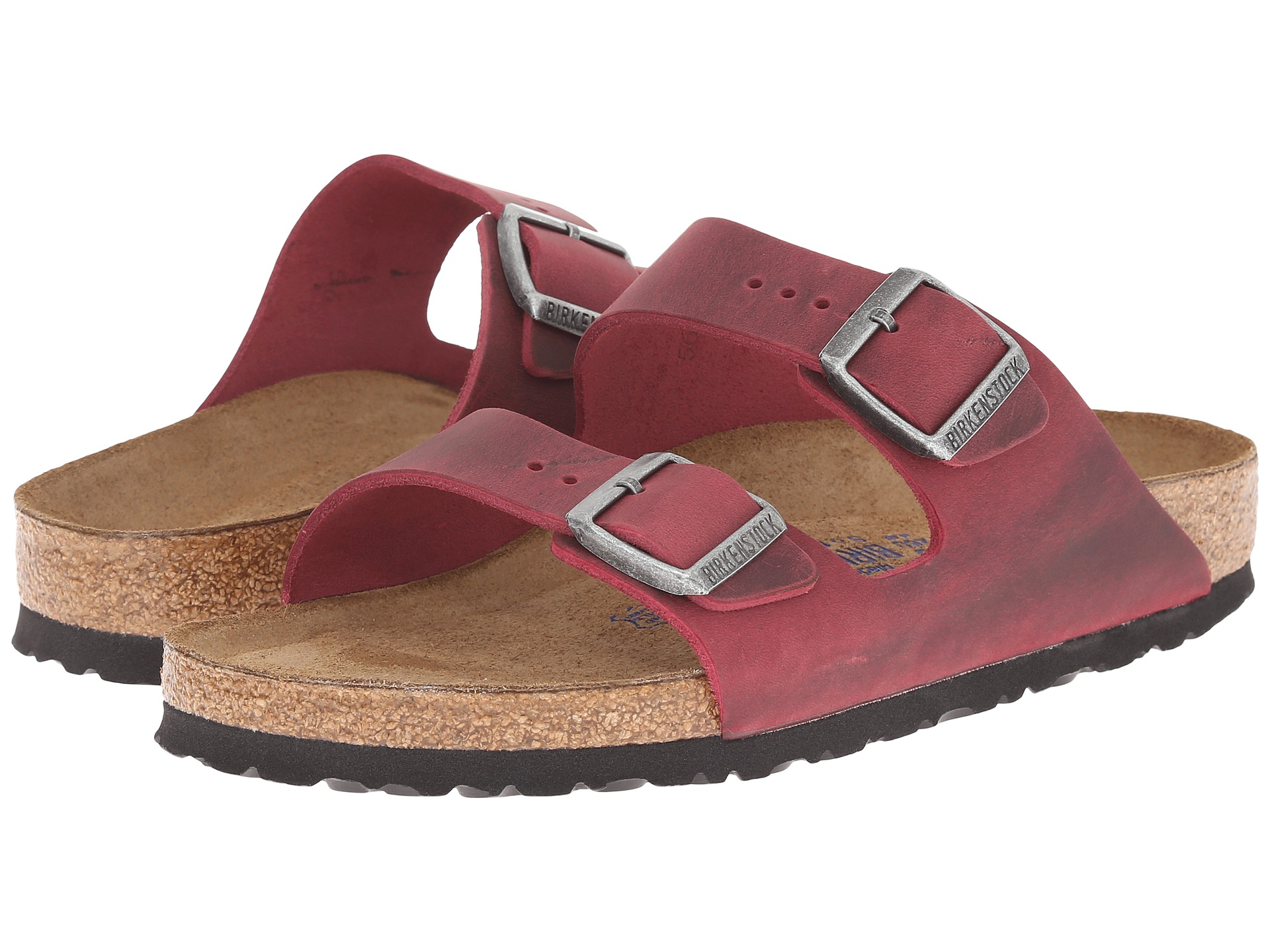 birkenstock arizona red oiled men