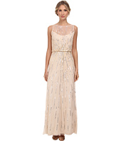 Aidan Mattox - Illusion Neck Beaded Gown