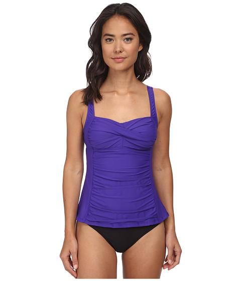 Athena - Finesse Solids Tankini (Grape) Women's Swimwear