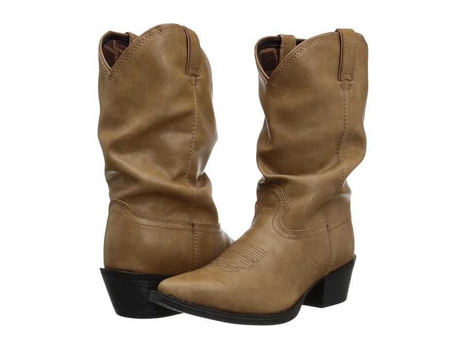 Durango Kids 8 Slouch Adolescent Big Kid Sand Cowboy Boots
