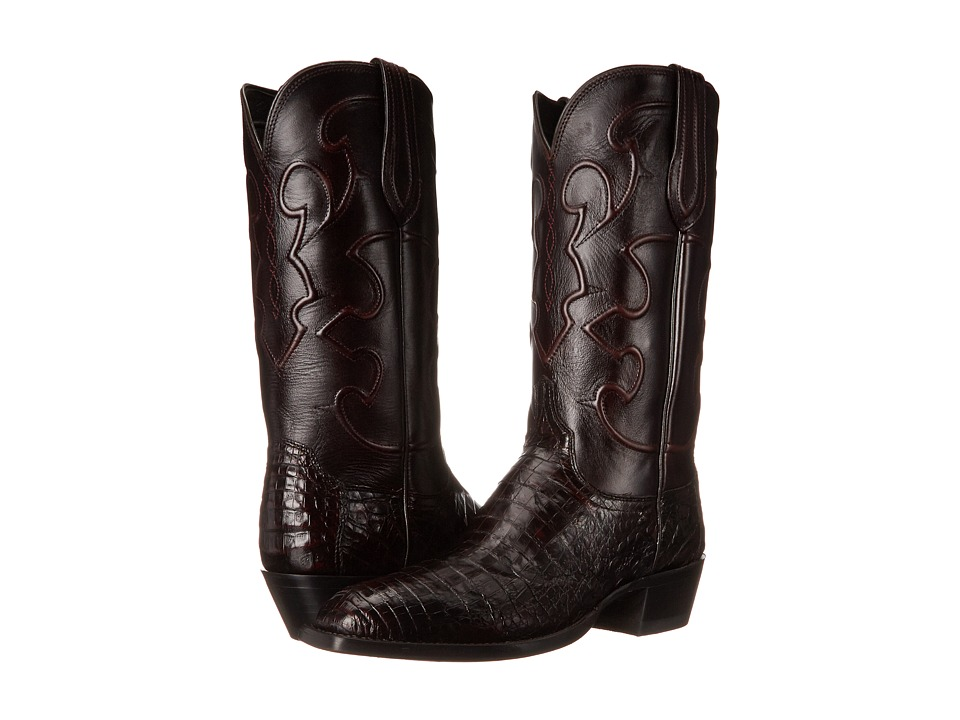 Lucchese - Charles (Black Cherry) Cowboy Boots