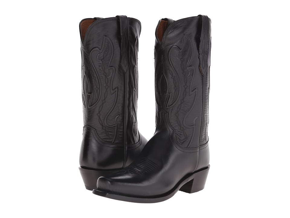 Lucchese - Cole (Black) Cowboy Boots
