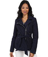 Jessica Simpson - Asymmetrical Zip Quilt with Floral Lining
