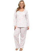 Carole Hochman - Plus Size Printed Long Sleeve Pajama