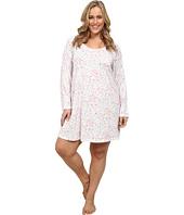Carole Hochman - Plus Size Printed Long Sleeve Sleepshirt