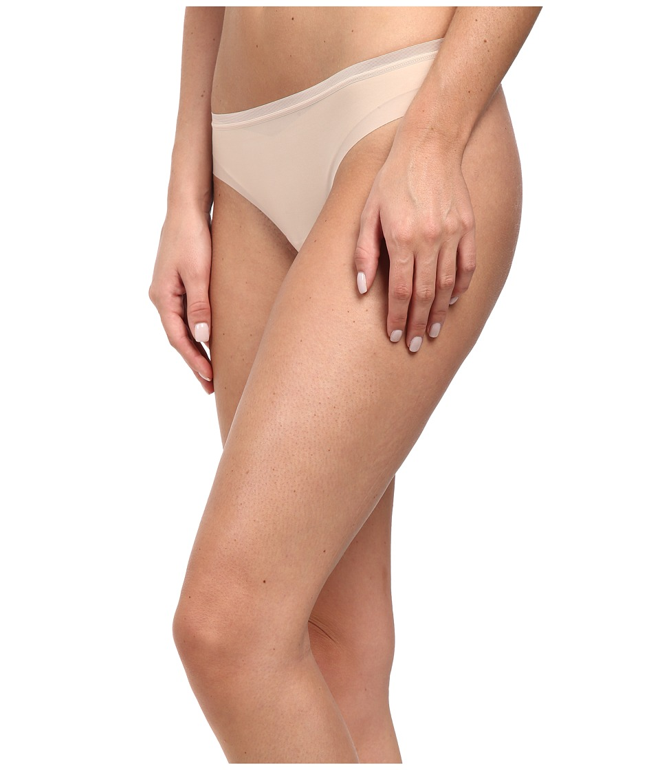 OnGossamer Beautifully Basic Clean Cut Thong Champagne Womens Underwear