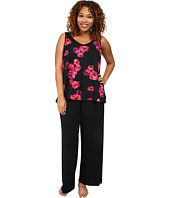 Midnight by Carole Hochman - Plus Size Floating Floral Pajama Set