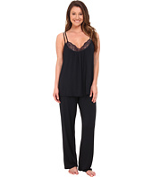 Midnight by Carole Hochman - Reve De Chantilly Pajama with Lace