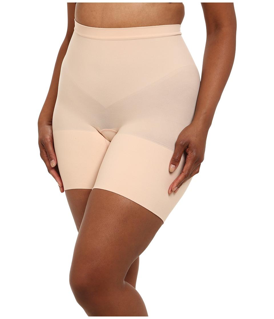 Spanx Plus Size Power Shorts Soft Nude Womens Underwear