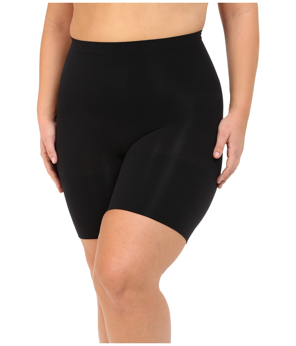 Spanx - Plus Size Power Shorts (Black) Women's Underwear