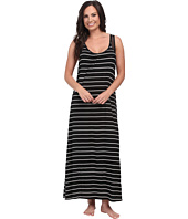 Midnight by Carole Hochman - Annette Stripe Maxi with Geo Lace