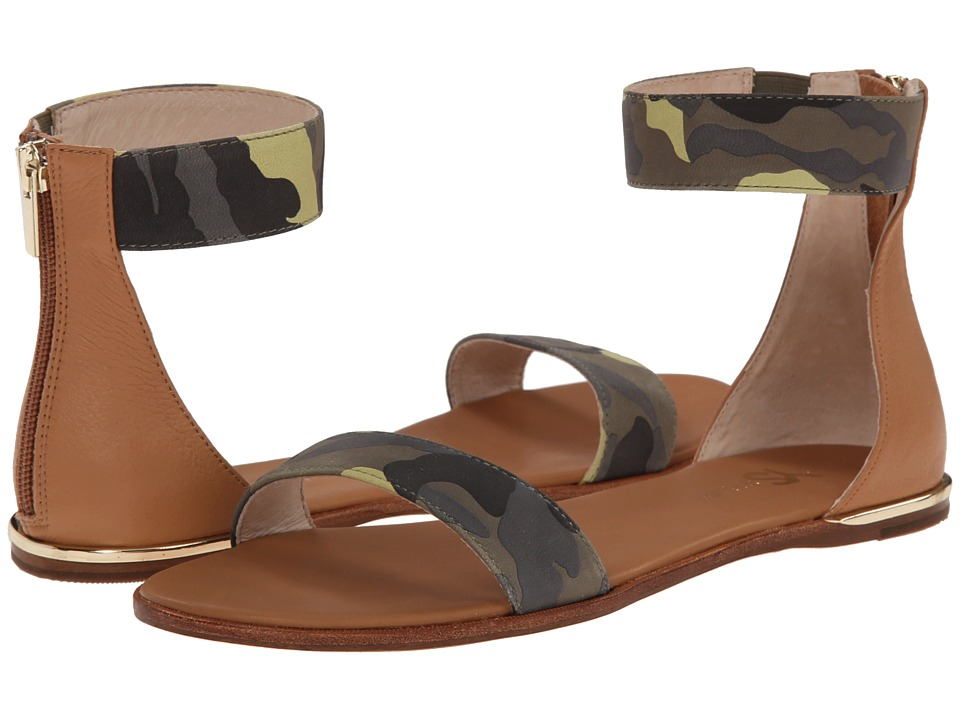 Yosi Samra - Cambelle Washed Camo Leather Sandal (Limette/Sienna) Women