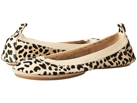 Image Yosi Samra Samara Flocked Leopard Leather Flat