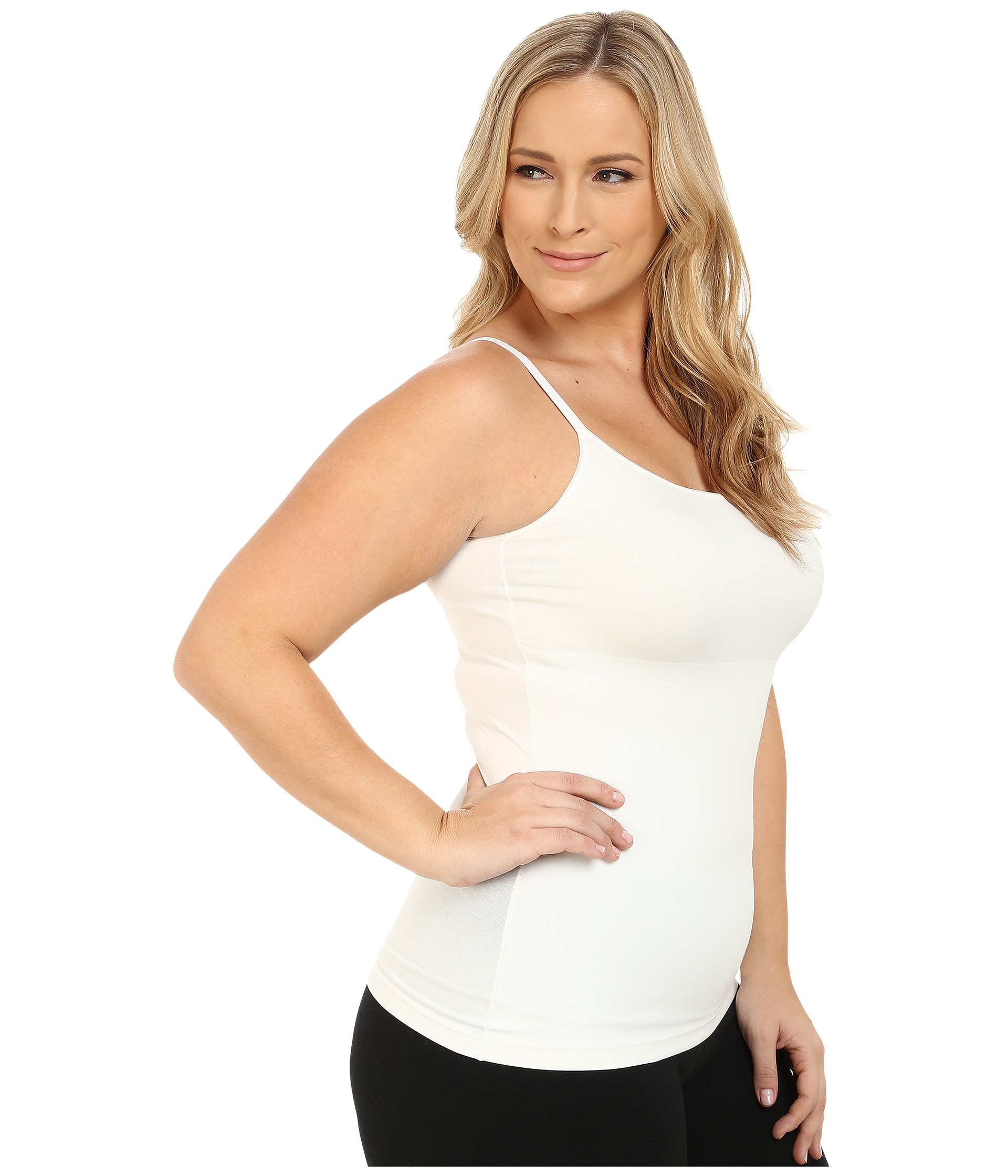 Spanx plus size in and out camisole powder for Plus size spanx for wedding dress