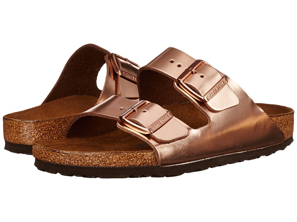 Birkenstock Arizona Soft Footbed (Metallic Copper Leather) Women