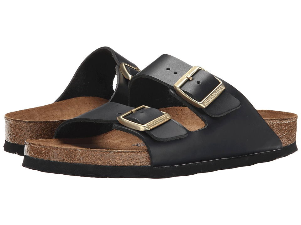 Birkenstock Arizona Soft Footbed (Hunter Black Leather) Women