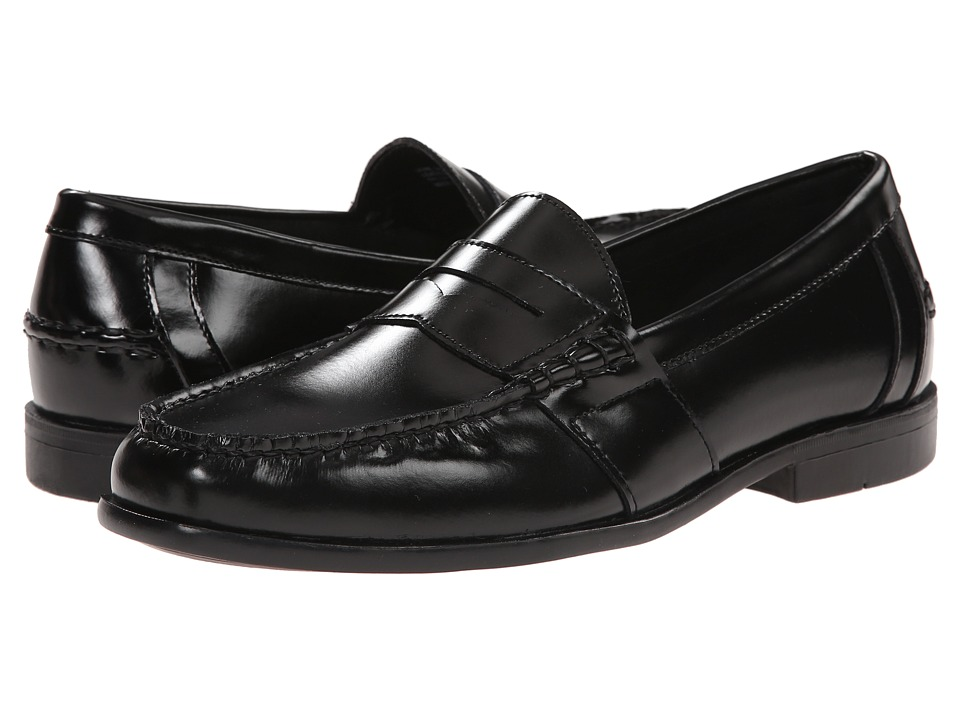 Nunn Bush - Kent Moc Toe Penny Loafer (Black) Men
