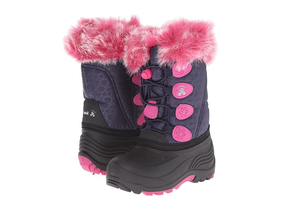 Kamik Kids Snowgypsy Toddler/Little Kid/Big Kid Navy Girls Shoes