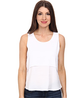 Calvin Klein - Layered Sleeveless Crepe De Chine Blouse