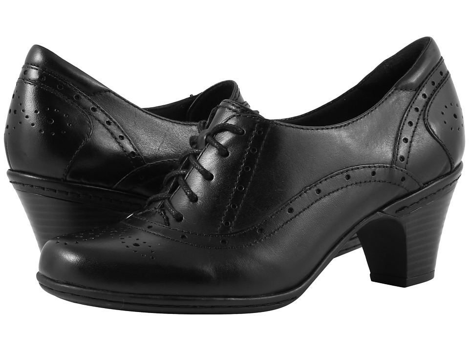 Vintage Style Shoes, Vintage Inspired Shoes Rockport Cobb Hill Collection - Cobb Hill Shayla Black Womens Lace up casual Shoes $119.95 AT vintagedancer.com