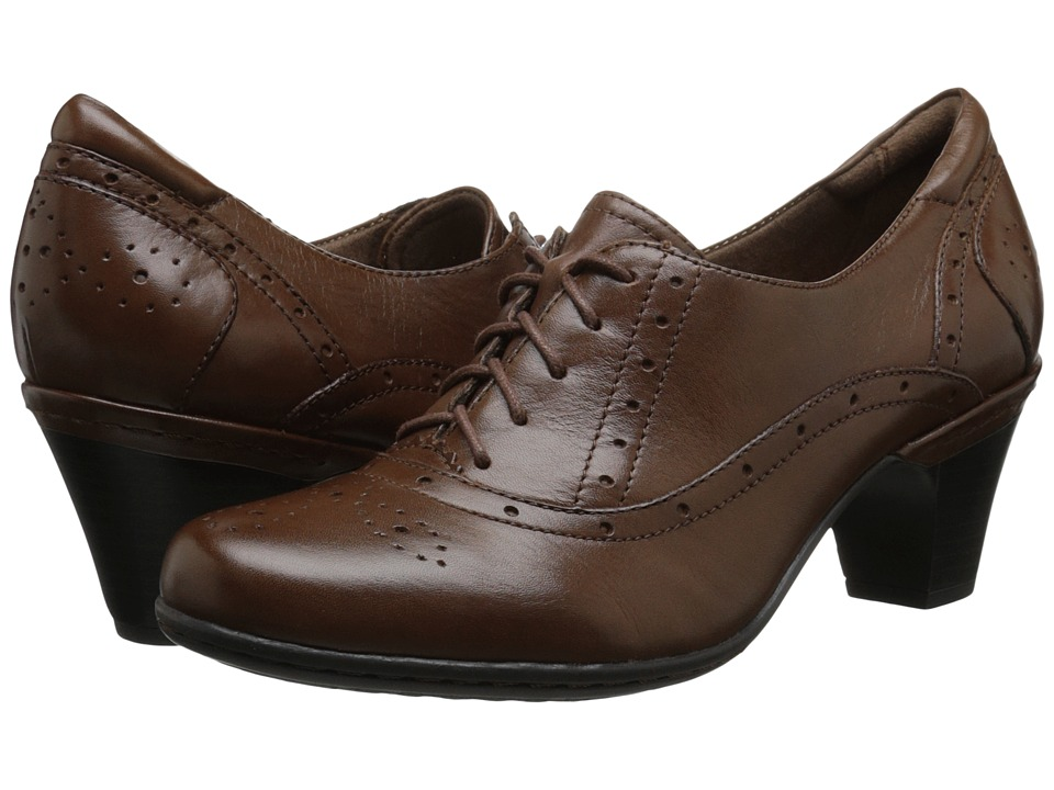Edwardian Shoes & Boots Rockport Cobb Hill Collection - Cobb Hill Shayla Brown Womens Lace up casual Shoes $119.95 AT vintagedancer.com