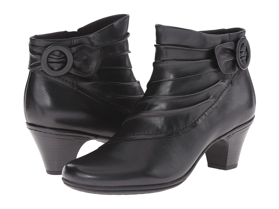 Vintage Style Shoes, Vintage Inspired Shoes Rockport Cobb Hill Collection - Cobb Hill Sabrina Black Womens Zip Boots $89.95 AT vintagedancer.com
