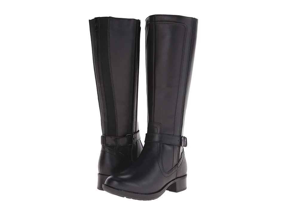 Cobb Hill Christy Black Womens Pull on Boots
