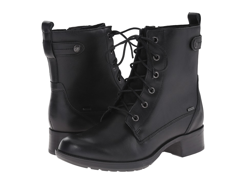 Cobb Hill Carrie Black Womens Lace up Boots