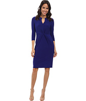 Vince Camuto - Long Sleeve Bodycon Jersey Twisted Dress w/ Hardware