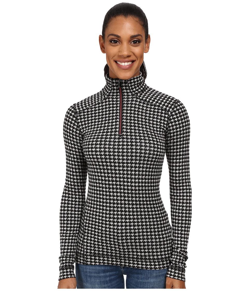 Smartwool - NTS Mid 250 Pattern Zip Top (Black/Light Gray Heather) Women