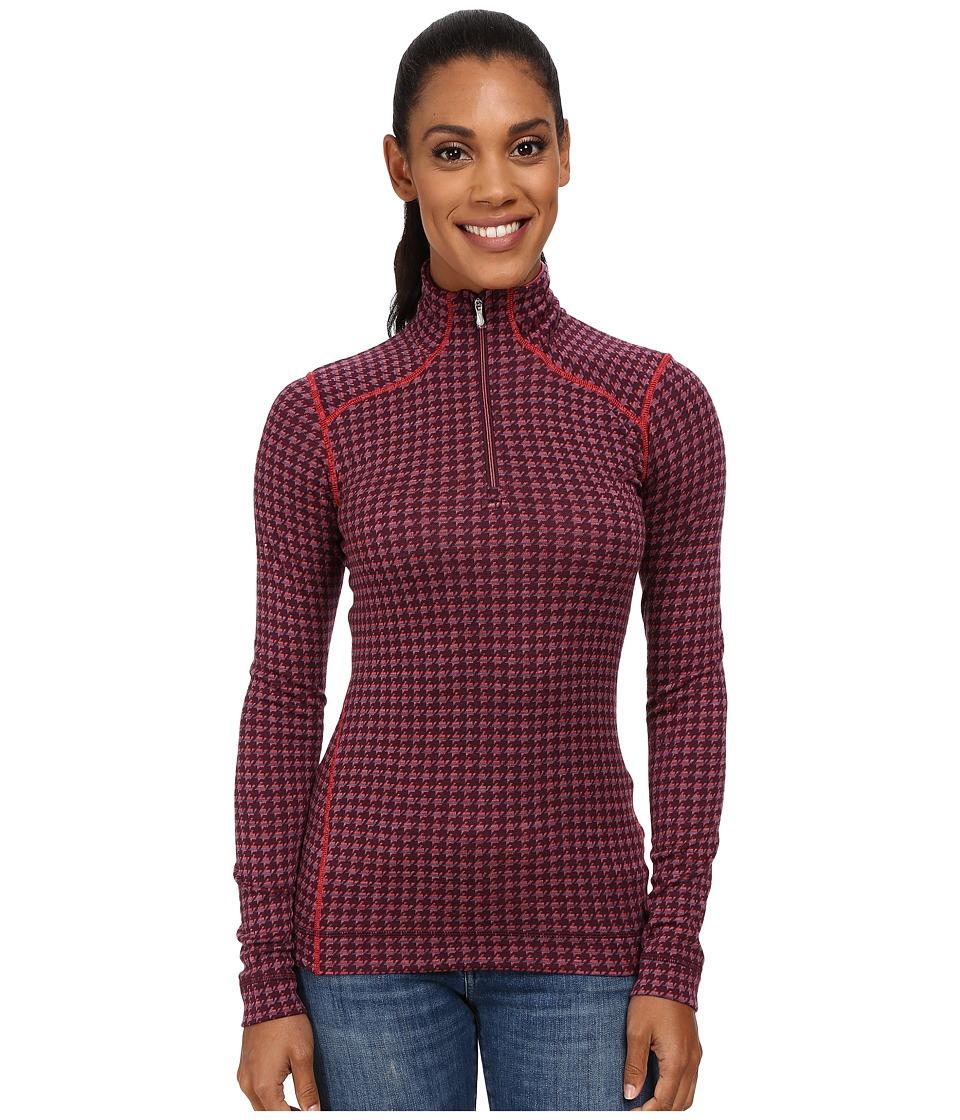 Smartwool - NTS Mid 250 Pattern Zip Top (Aubergine Heather/Hibiscus Heather) Women