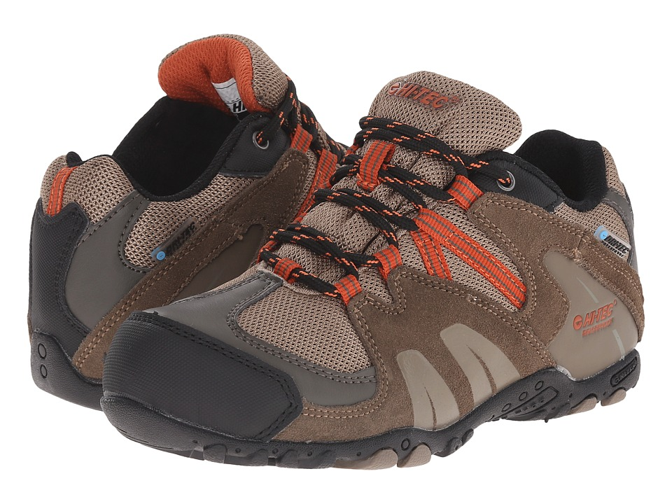 Hi Tec Kids Aitana Low Waterproof Jr Toddler/Little Kid/Big Kid Smokey Brown/Taupe/Red Rock Kids Shoes