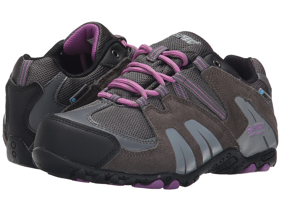 Hi Tec Kids Aitana Low Waterproof Jr Toddler/Little Kid/Big Kid Charcoal/Grey/Orchid Kids Shoes