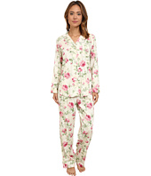LAUREN by Ralph Lauren - Long Sleeve Notch Collar Pajama