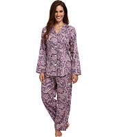LAUREN by Ralph Lauren - Petite Long Sleeve Notch Collar Pajama