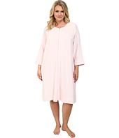 Carole Hochman - Plus Size Waffle Knit Short Zip Robe