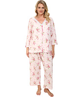 Carole Hochman - Plus Size Floral Print Capris Pajama