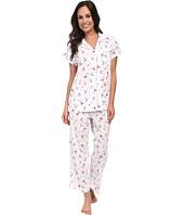 Carole Hochman - Printed Notch Collar Short Sleeved Pajama Set