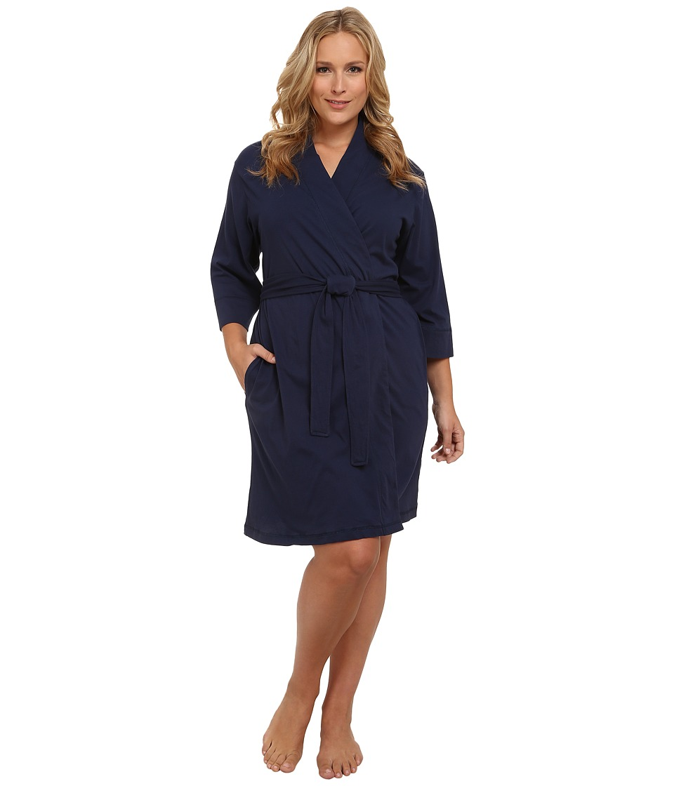 Jockey Jockey Cotton Essentials Plus Size Robe Midnight Navy Womens Robe