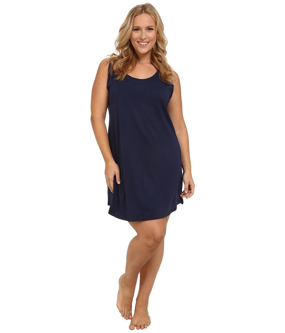 Jockey - Plus Size Cotton Chemise (Midnight Navy) Women's Pajama plus size,  plus size fashion plus size appare
