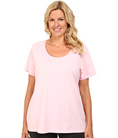 Jockey - Plus Size Short Sleeve Henley Top