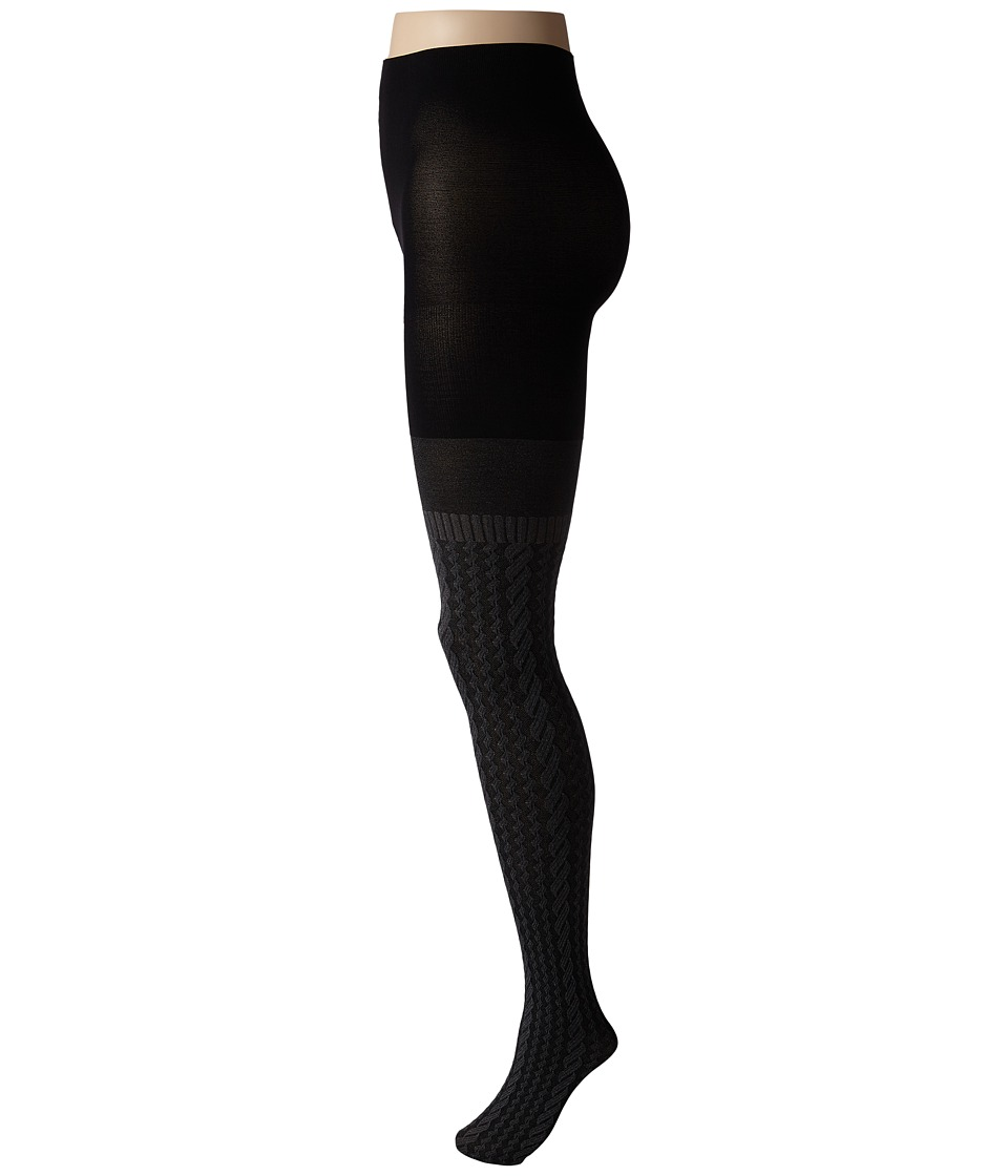 Spanx Cable Knit Over The Knee Tights Sweater Grey Hose