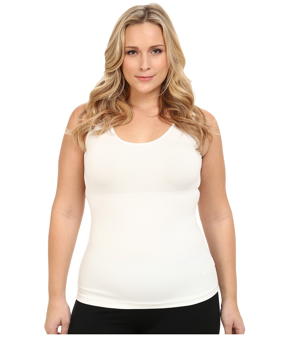 Spanx Plus Size In and Out Tank Top Powder Womens Sleeveless