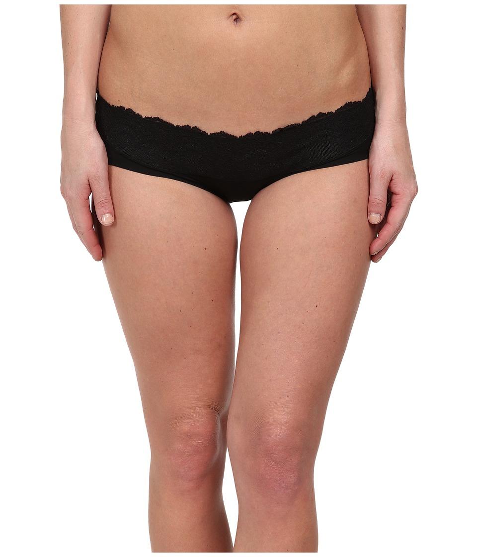 Spanx Lace Waist Hipster Black Womens Underwear